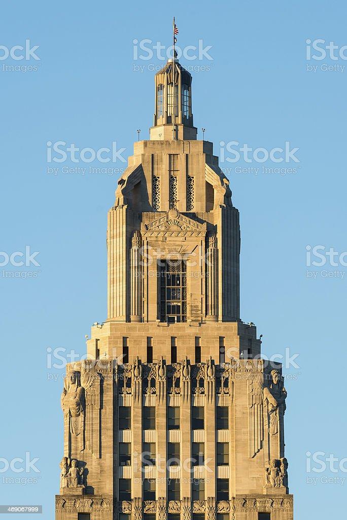 Louisiana State Capitol tower stock photo