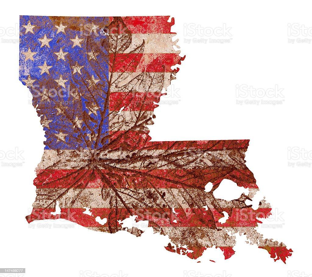 Louisiana State Map Flag Pattern royalty-free stock photo