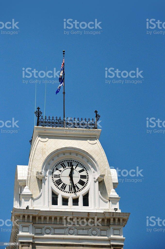 Louisville City hall clock tower stock photo