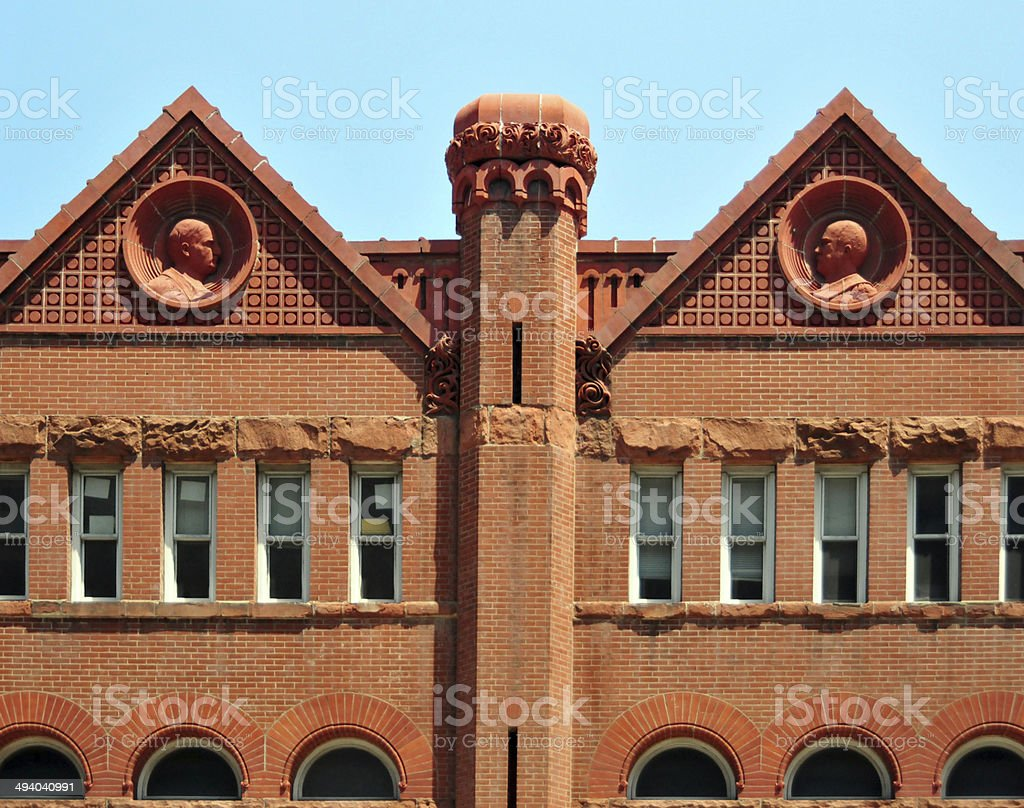 Louisville, Kentucky, USA: detail of the Old Fire Station royalty-free stock photo