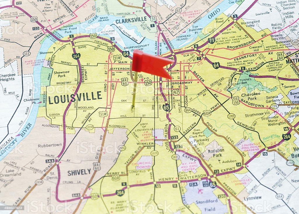 Louisville on the Map royalty-free stock photo
