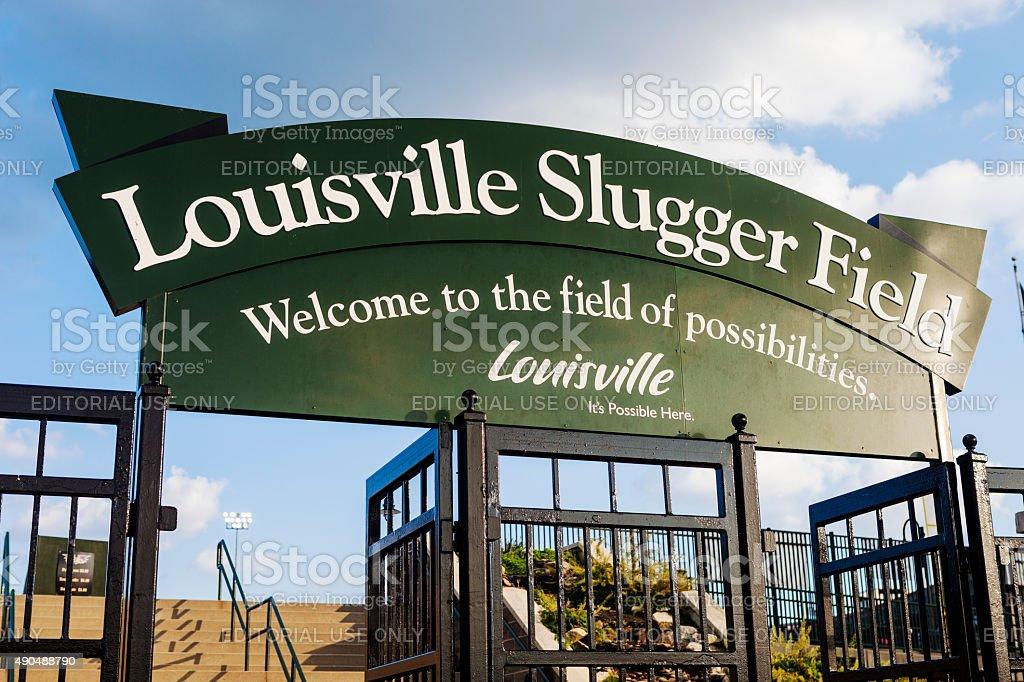 Louisville Slugger Field stock photo