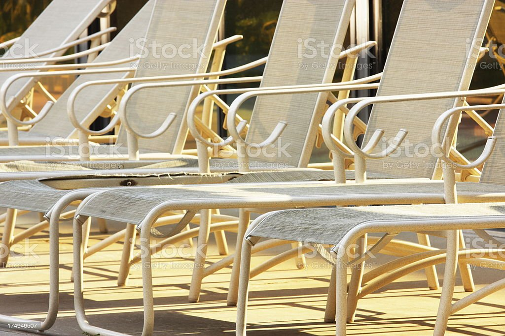 Lounge Chair Armchairs Poolside Furniture royalty-free stock photo