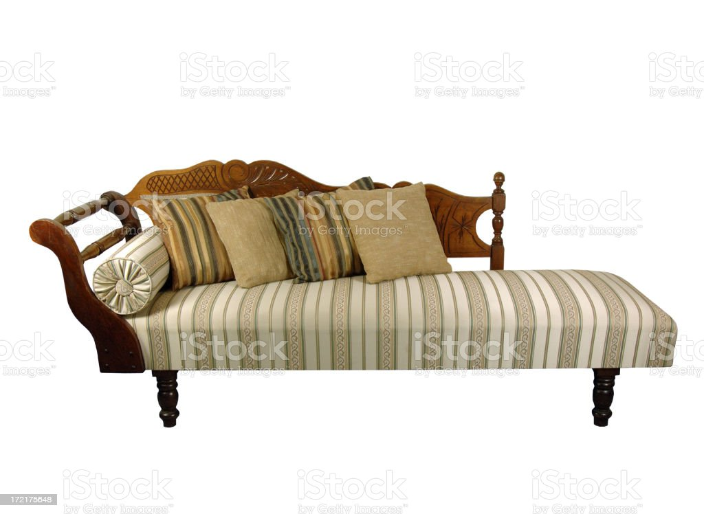 Chaise longue stock photo