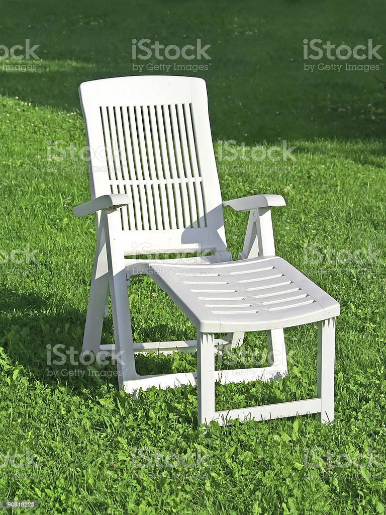 Chaise lounge royalty-free stock photo
