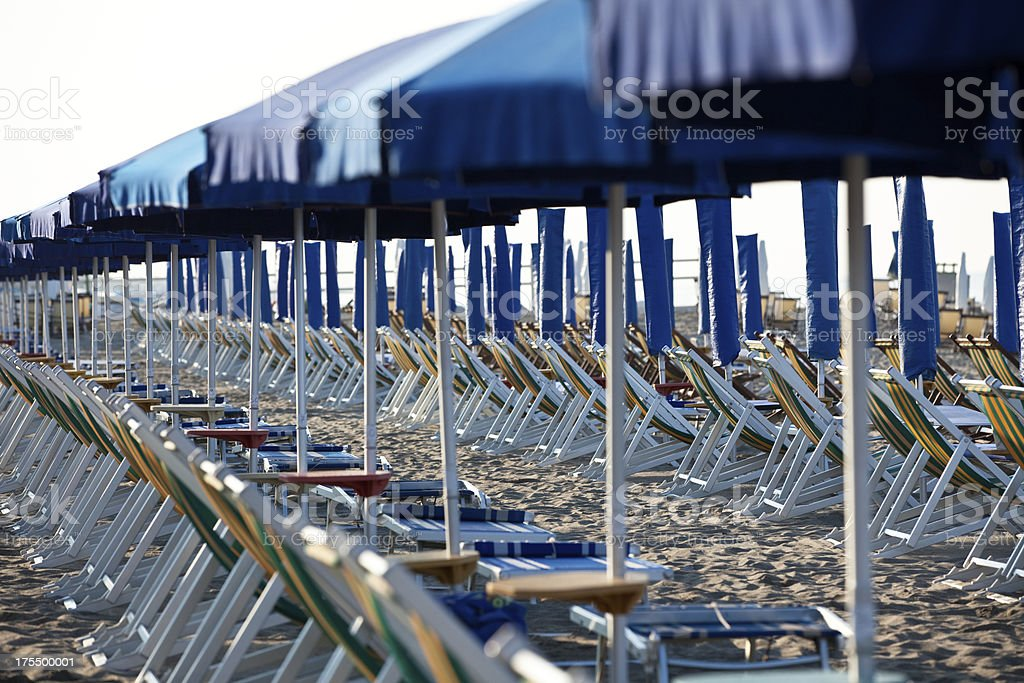 lounge chairs and parasols royalty-free stock photo