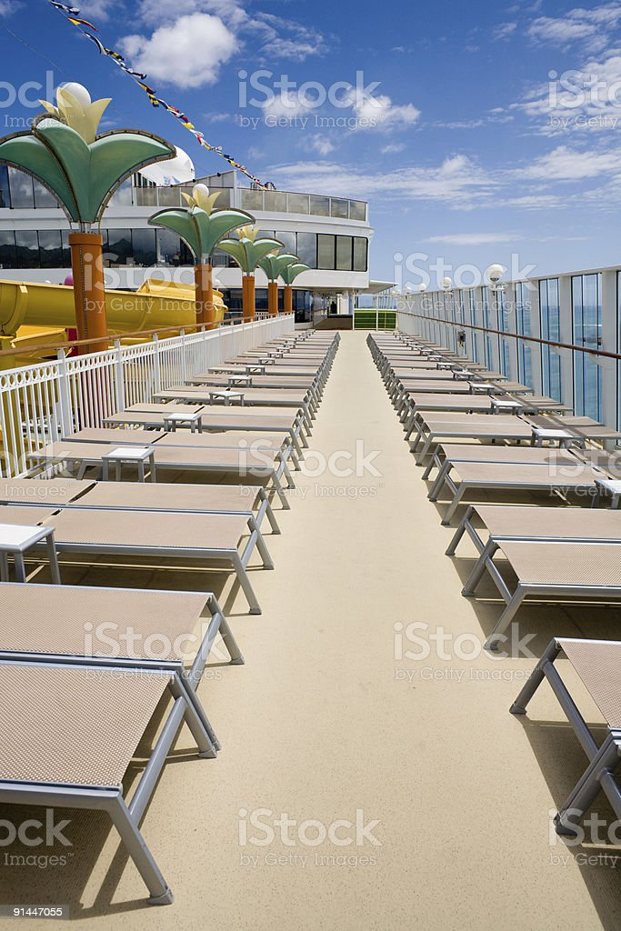 Lounge Chairs on The Pride of Hawaii royalty-free stock photo