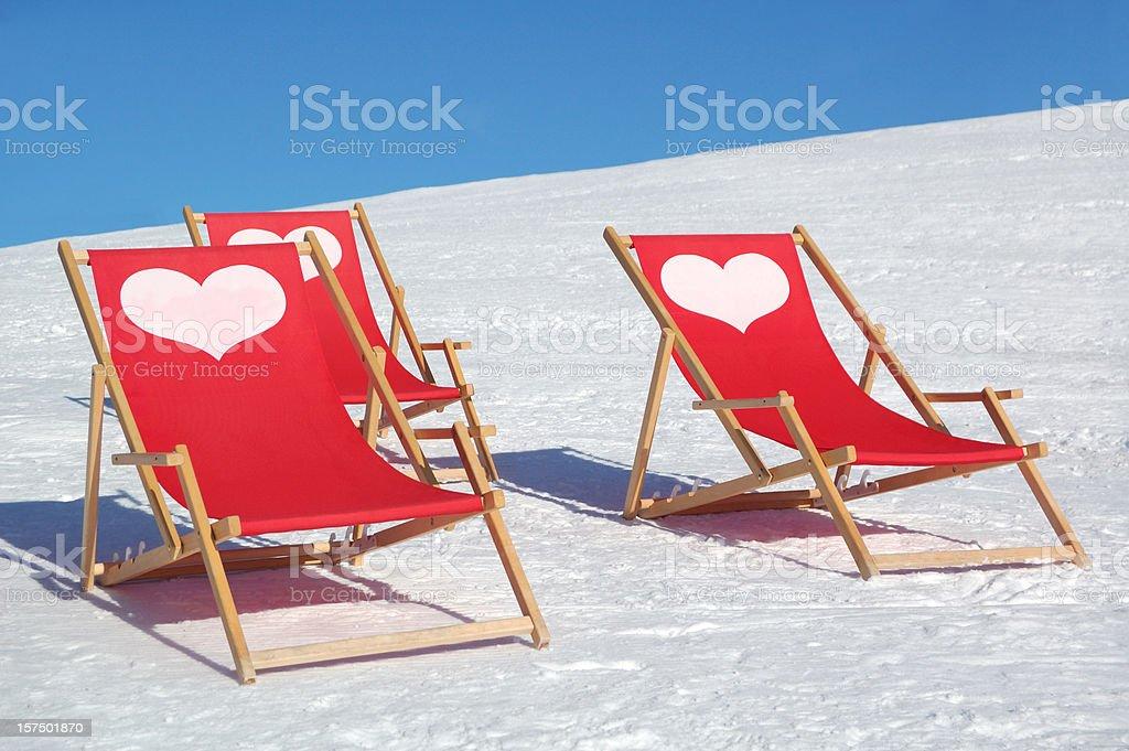 lounge chairs stock photo