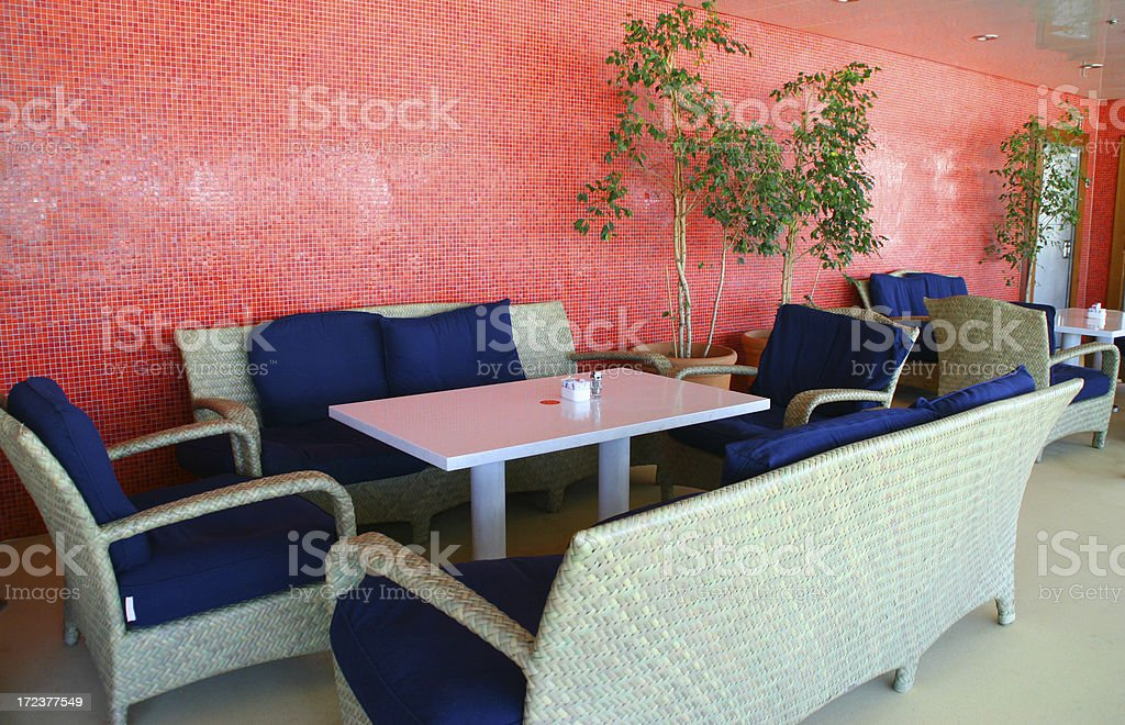 Lounge restaurant royalty-free stock photo