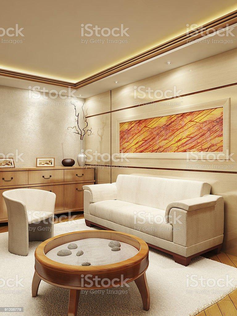 Lounge room interior royalty-free stock photo