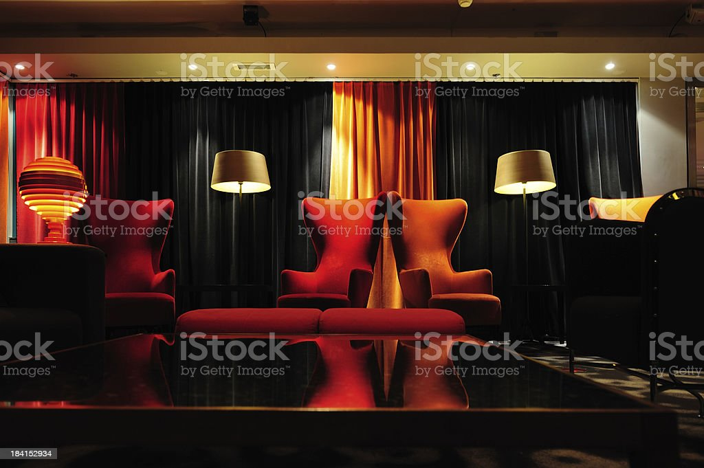 Lounge room, relaxed environment royalty-free stock photo