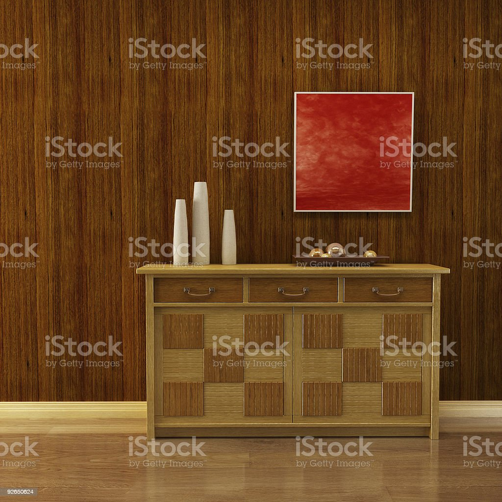 lounge room with cupboard royalty-free stock photo