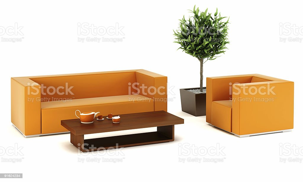 lounge room with leather couch royalty-free stock photo