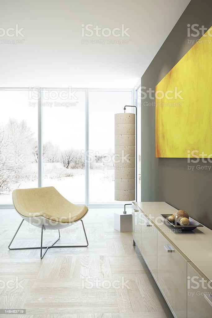 Lounge room with some lens flare royalty-free stock photo