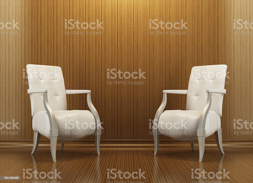Lounge Wood Room royalty-free stock photo