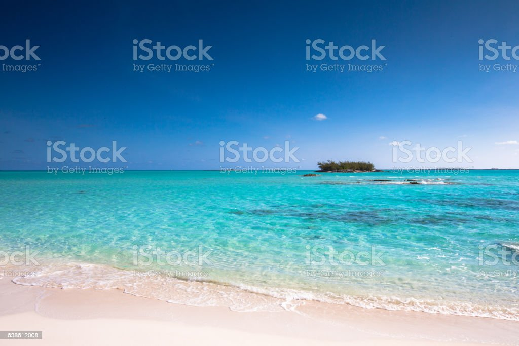 Lounging in the Bahamas stock photo