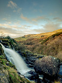 Loup of Fintry waterfall, Central Scotland.