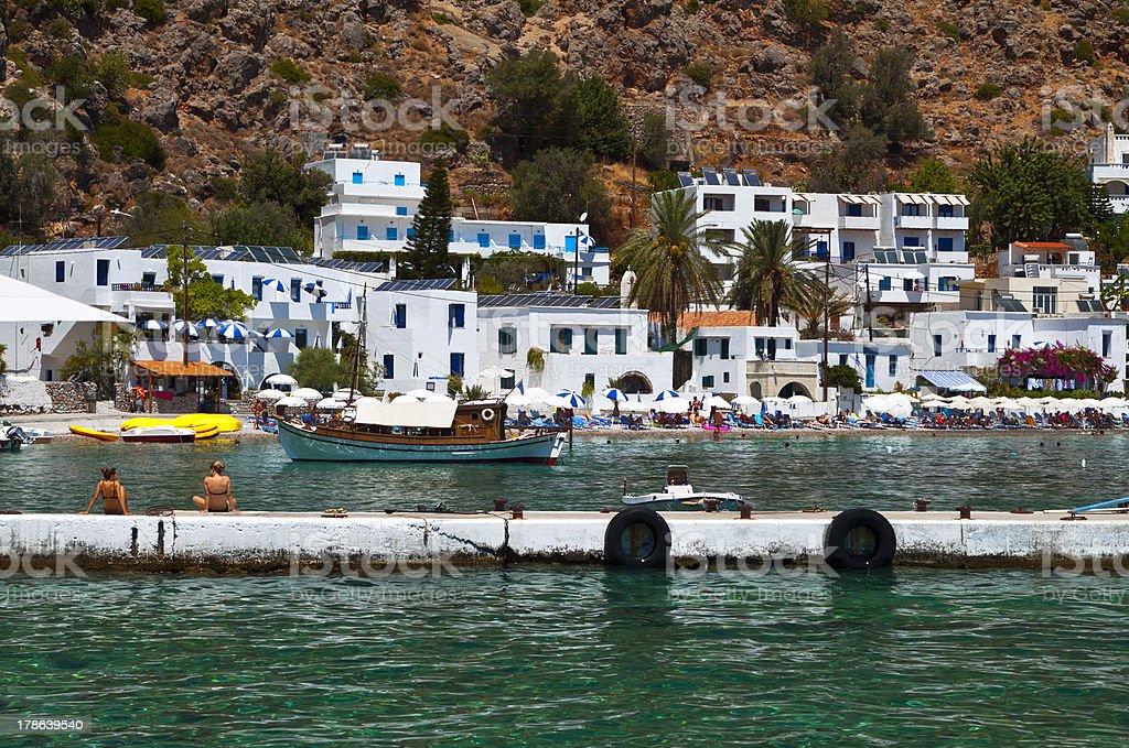 Loutro resort at Crete island, Greece stock photo
