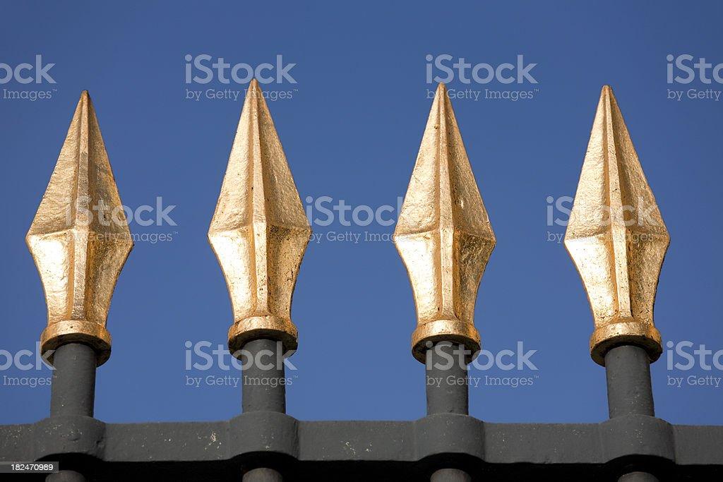 Louvre Fence Spikes, Paris France stock photo