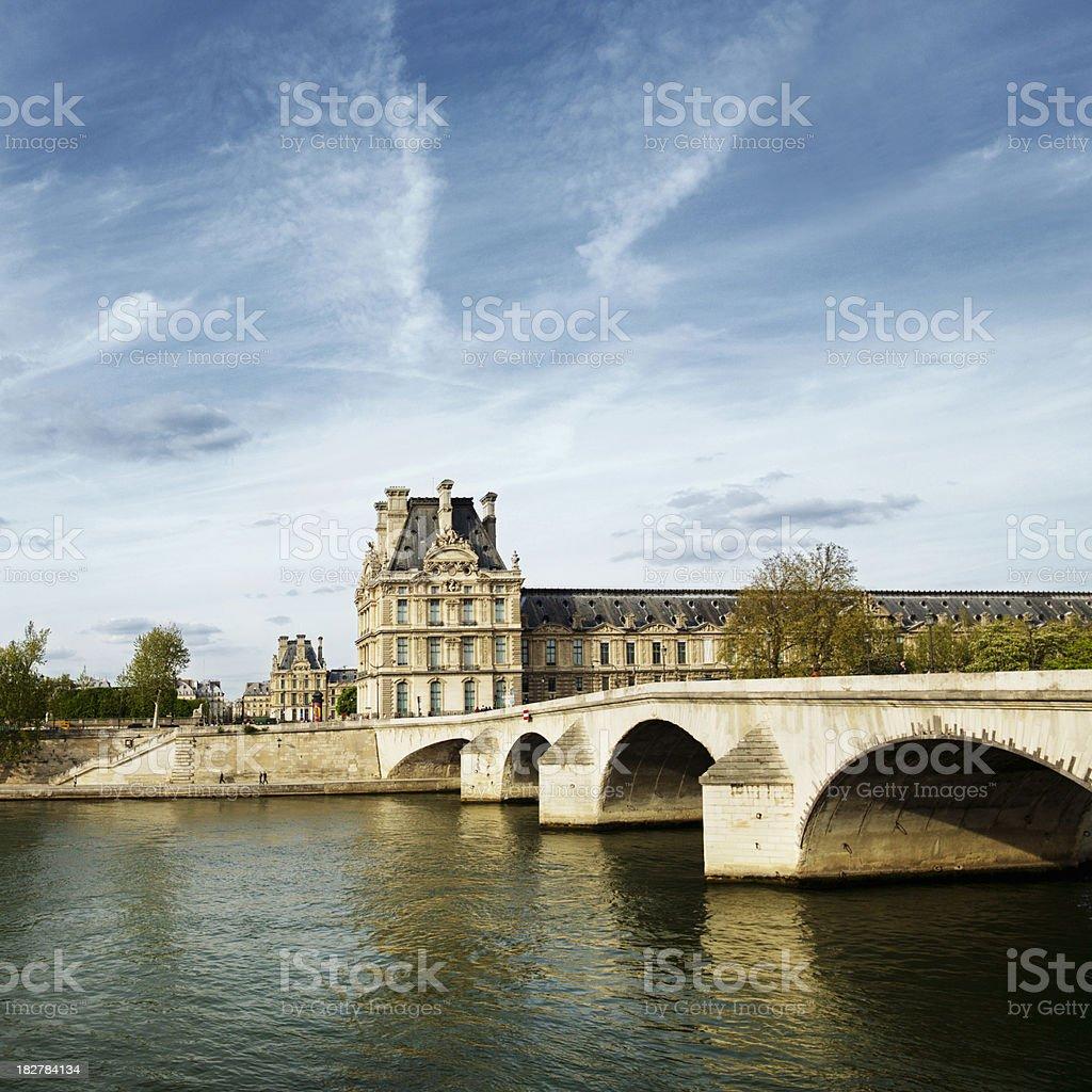 Louvre in Paris stock photo