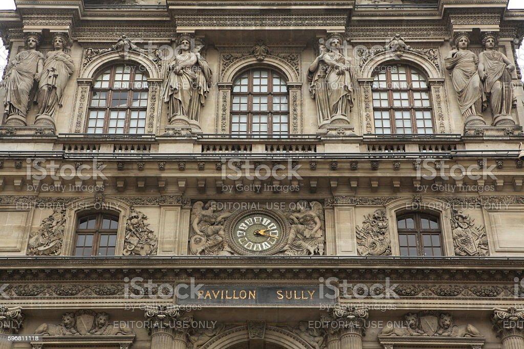 Louvre Museum in Paris, France. stock photo