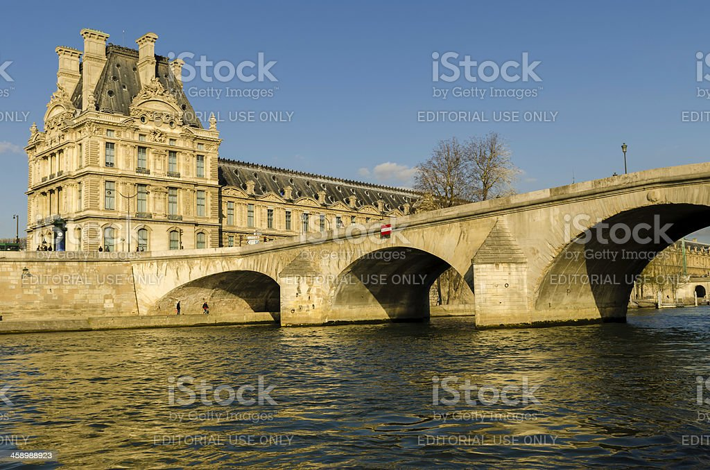 Louvre Museum stock photo