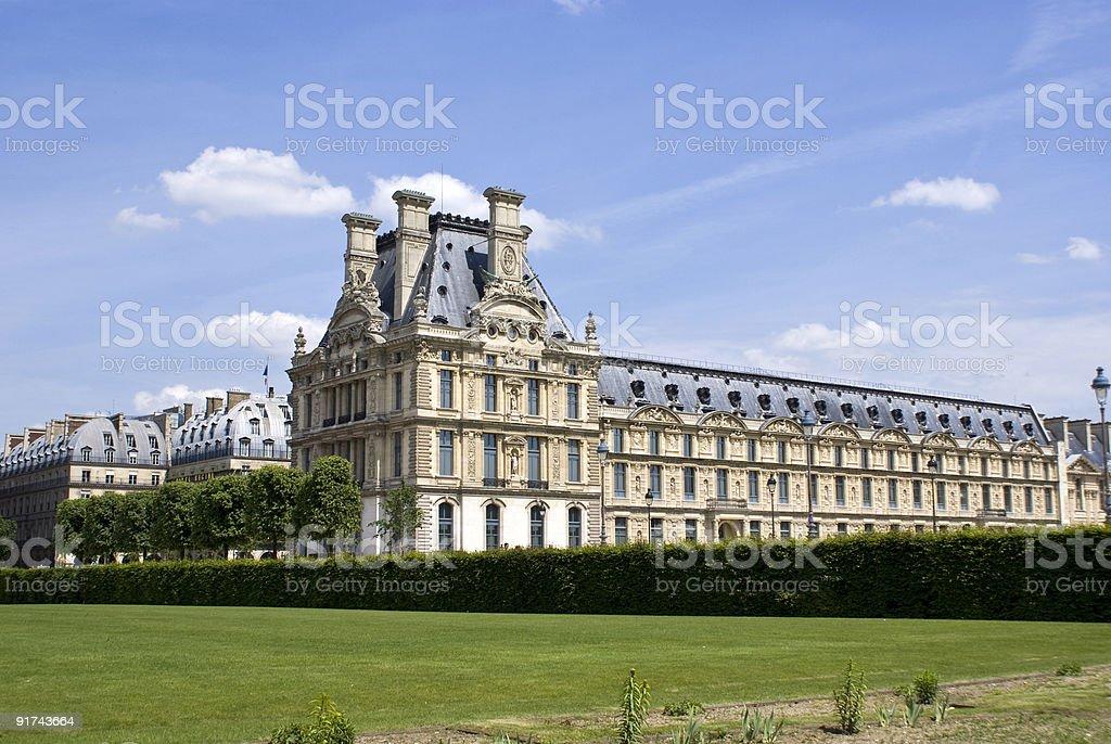 Louvre palace stock photo
