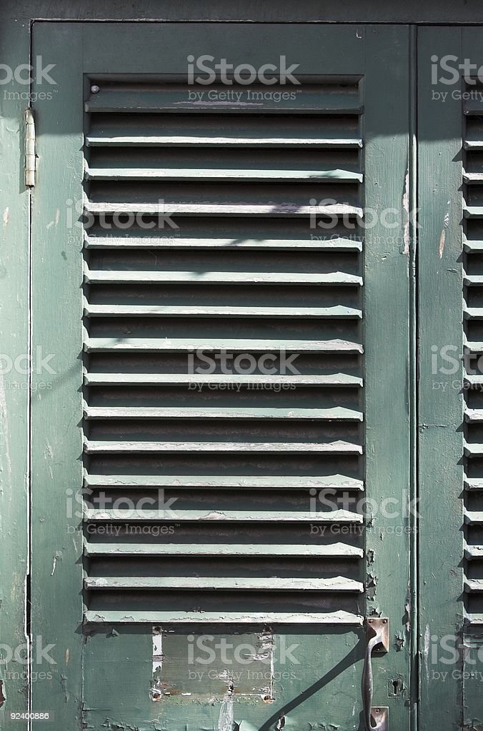 Louvres: A Louvred Door stock photo