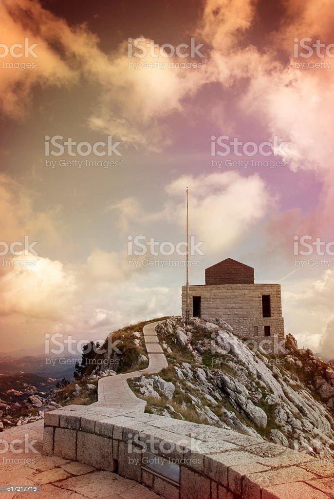 Lovcen Mausoleum in Cetinje city stock photo