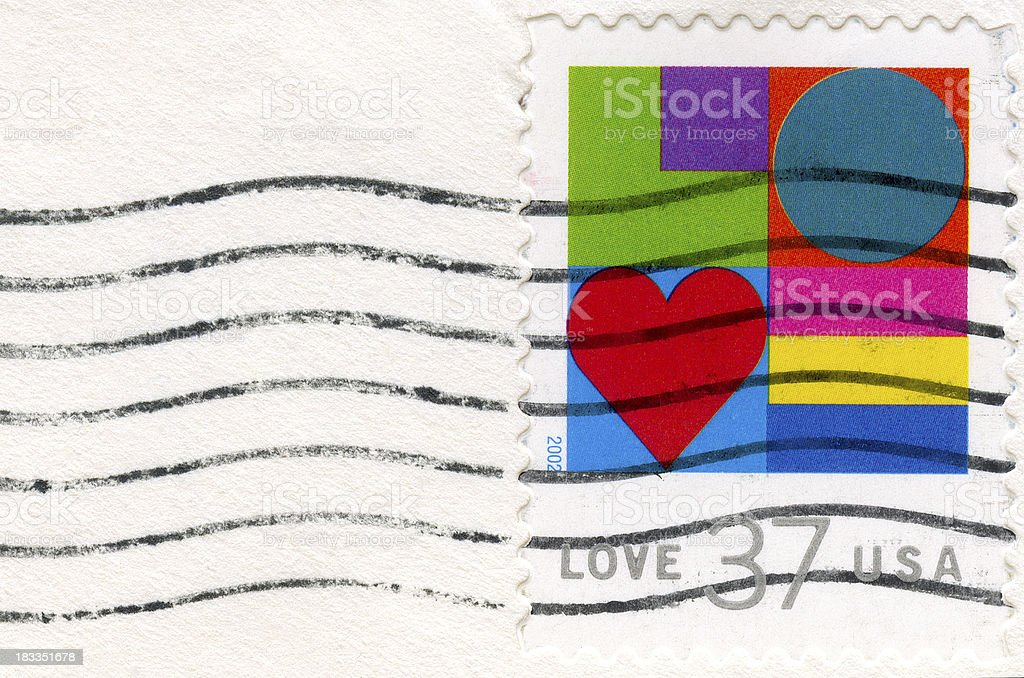 Love Abstract Postage Stamp royalty-free stock photo