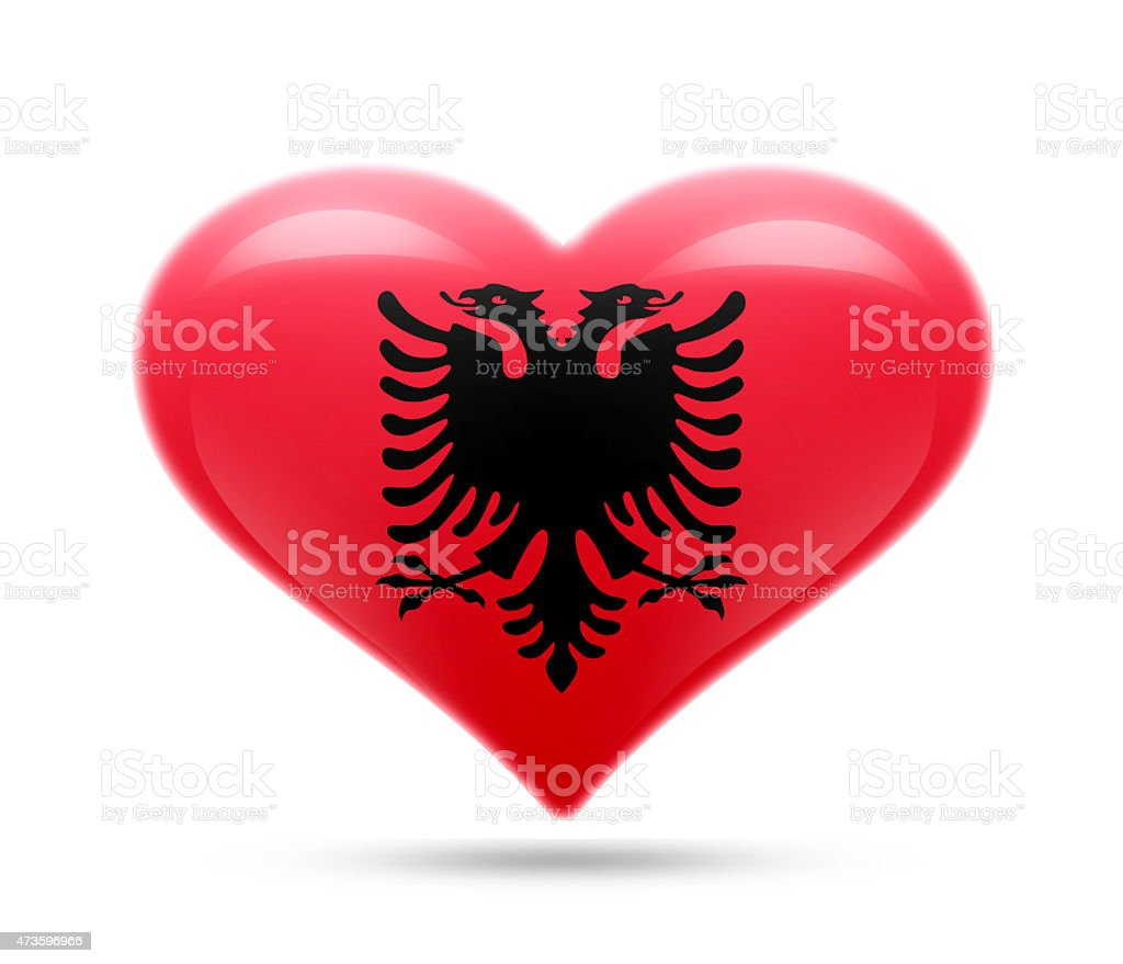 Love Albania stock photo