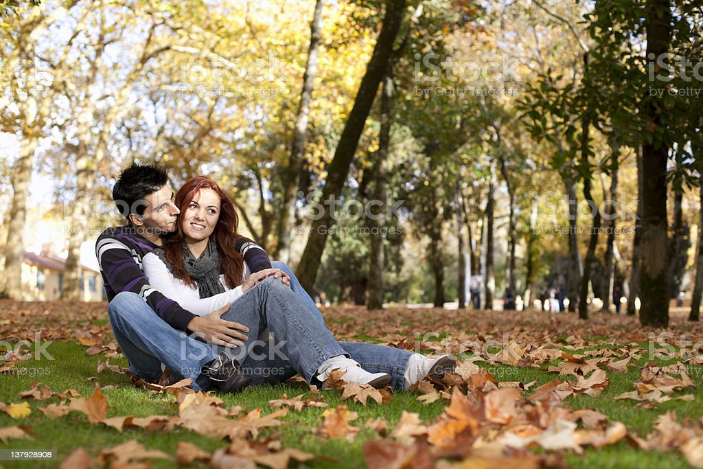 Love and affection between a young couple royalty-free stock photo