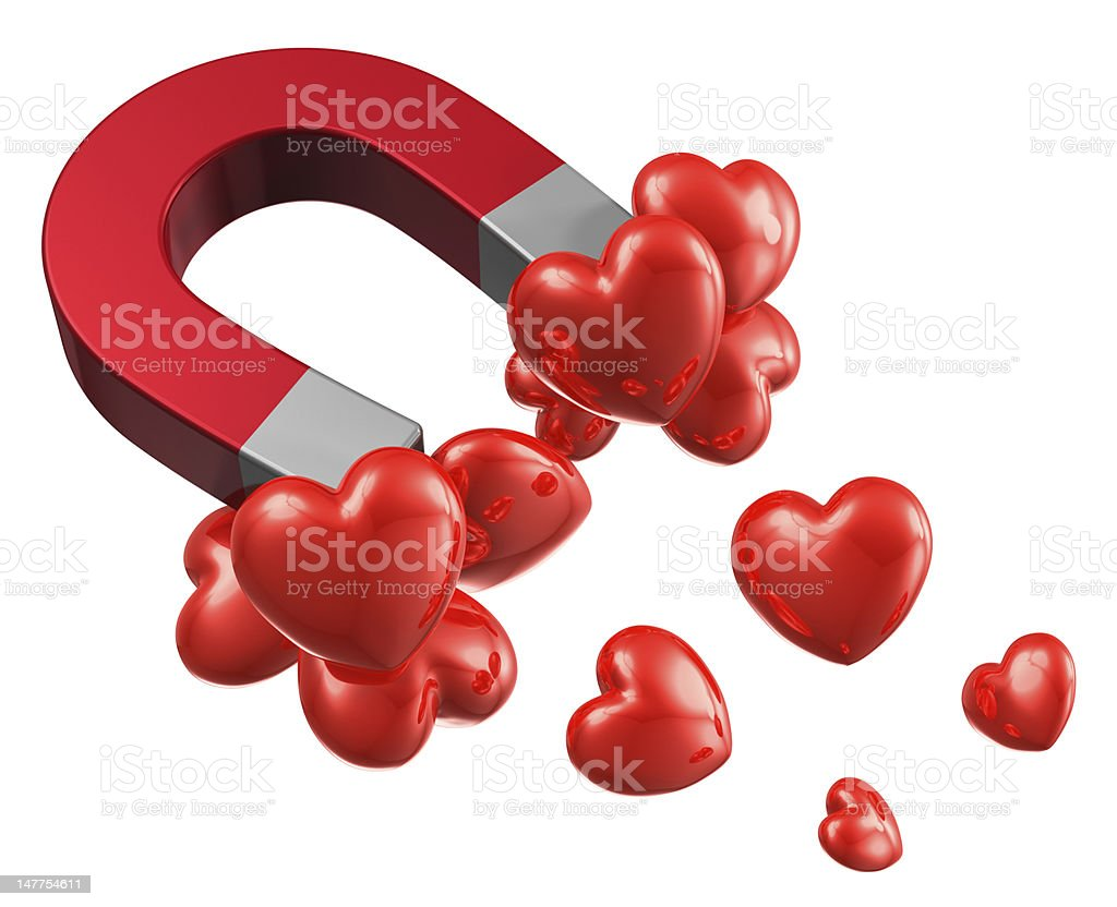 Love and attraction concept royalty-free stock photo