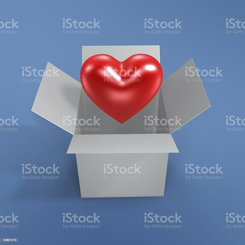 love and  box royalty-free stock photo