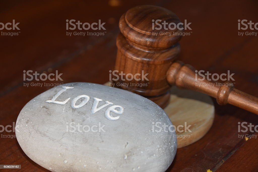 Love and court stock photo