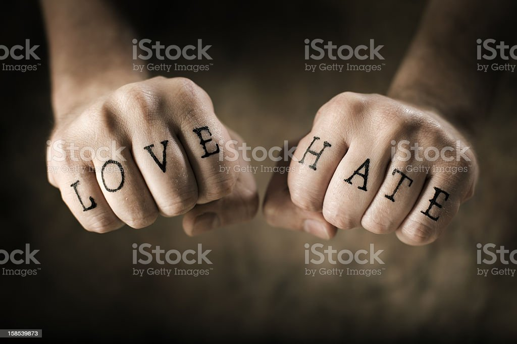 Love and Hate stock photo