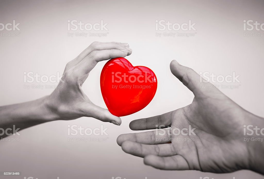Love and healthcare concept stock photo