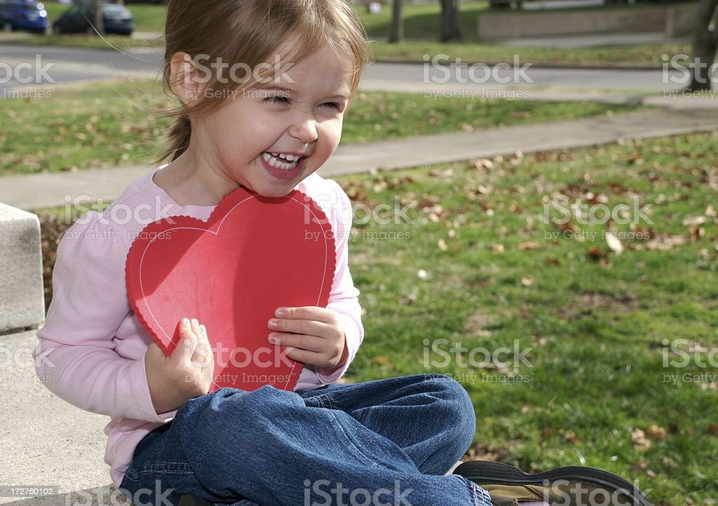 Love and Laughter of a Child royalty-free stock photo