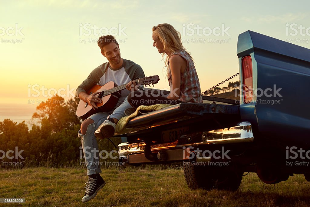 Love and leisure in perfect harmony stock photo