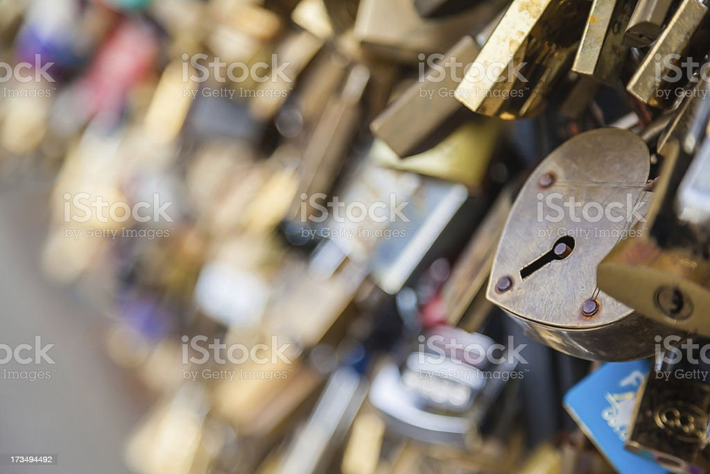 love and locks stock photo
