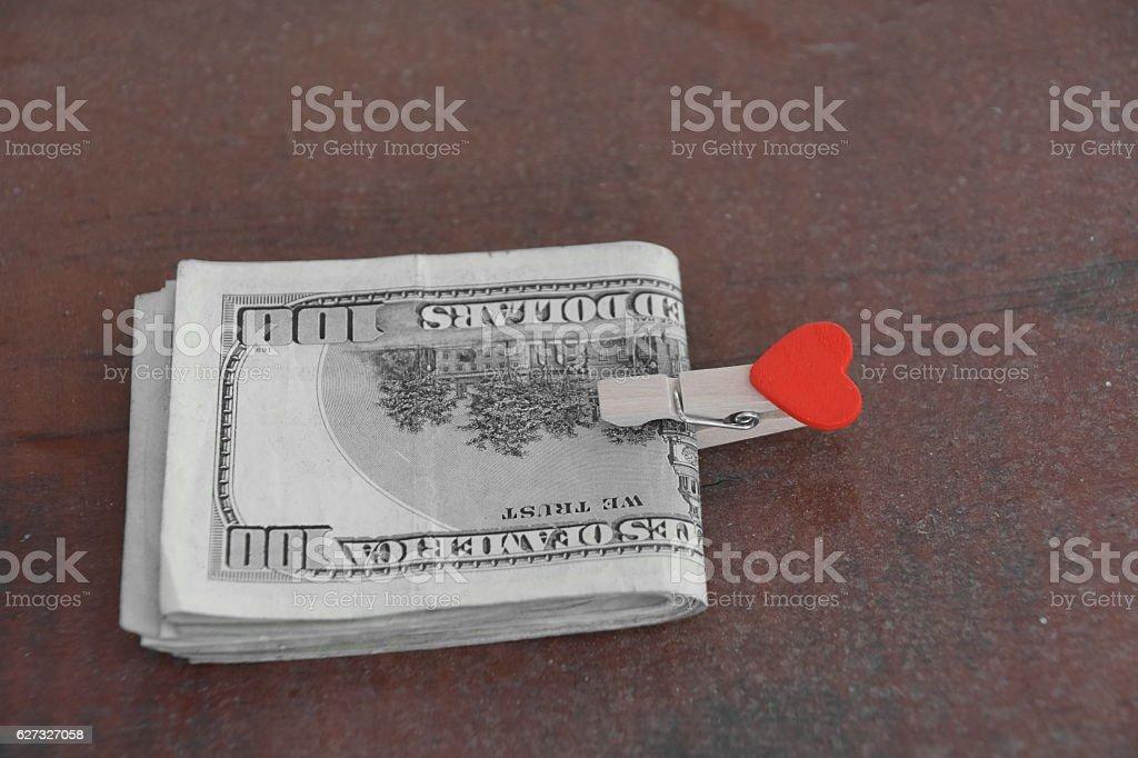 Love and money stock photo