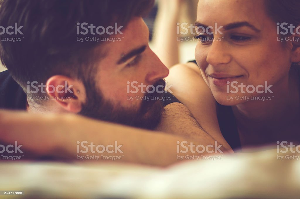 Love and mornings stock photo