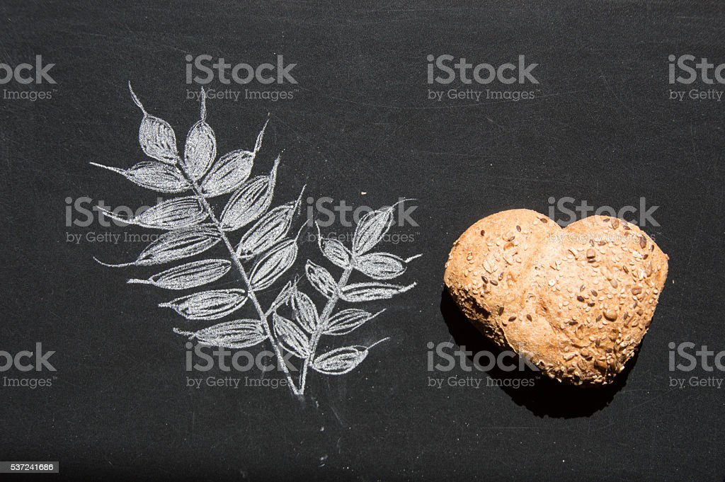 Love and passion for wholemeal bread stock photo