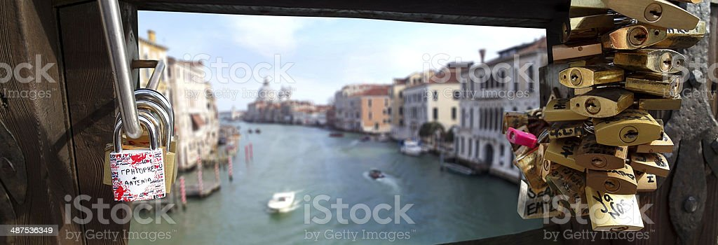 Love and romance bridge in Venice royalty-free stock photo