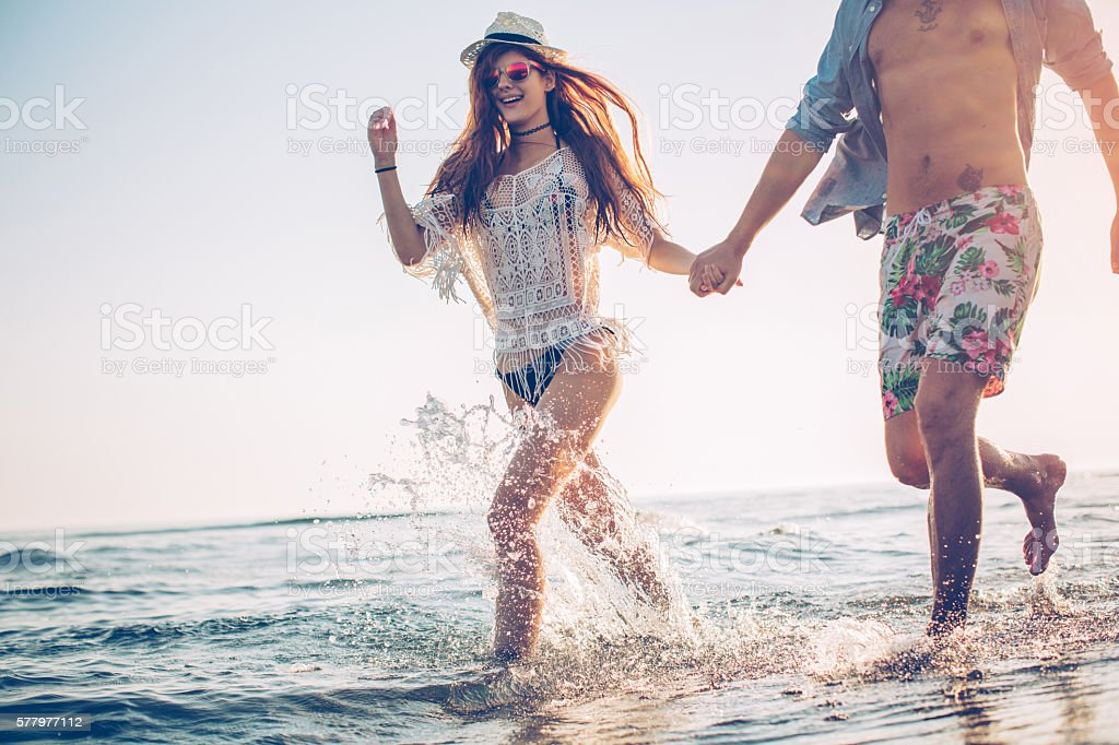 Love and summer fun stock photo