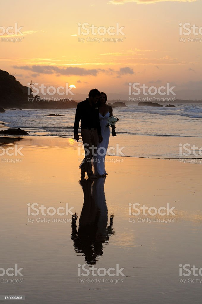 Love at sunset royalty-free stock photo