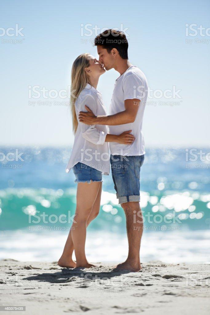 Love at the beach stock photo