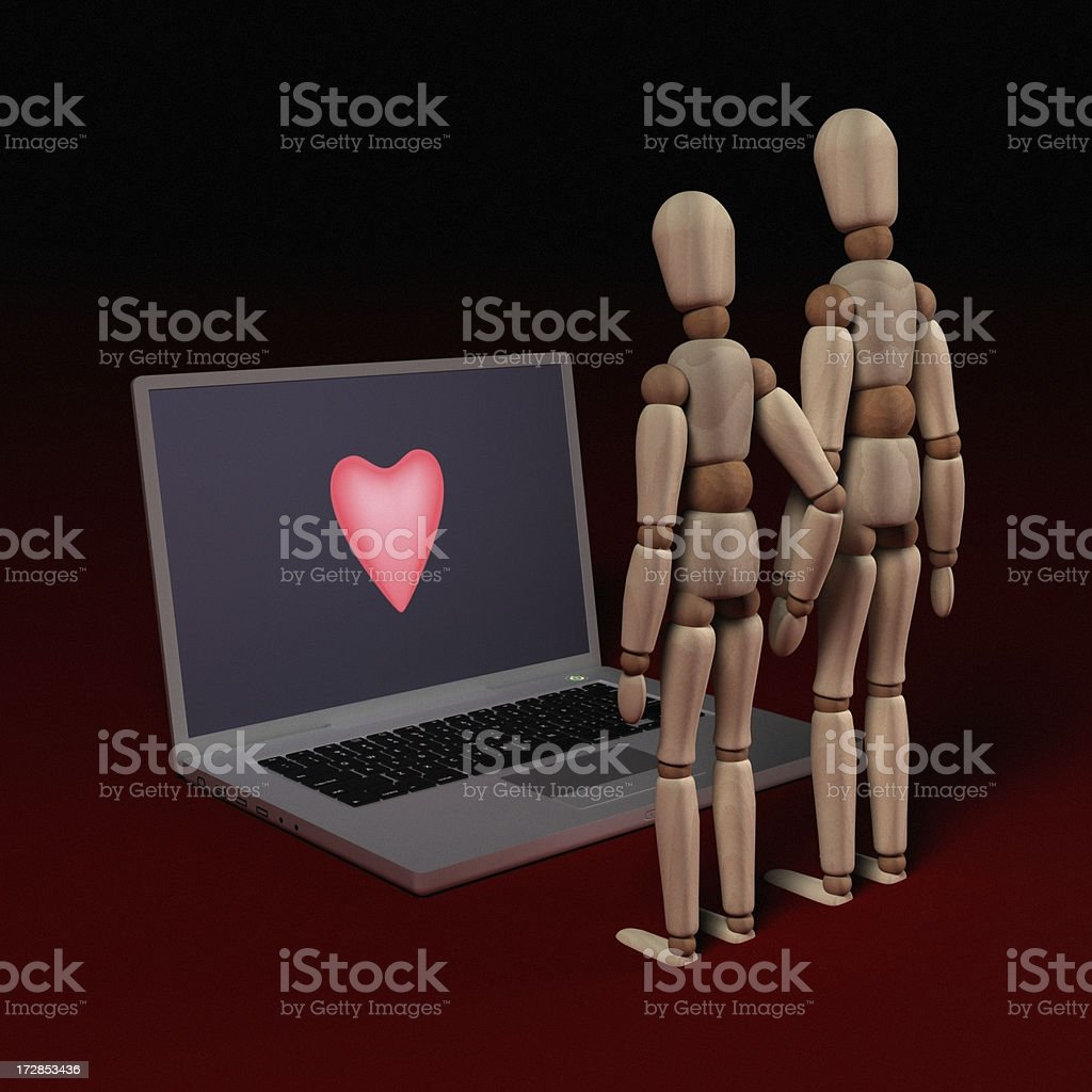 Love at the Computer royalty-free stock photo