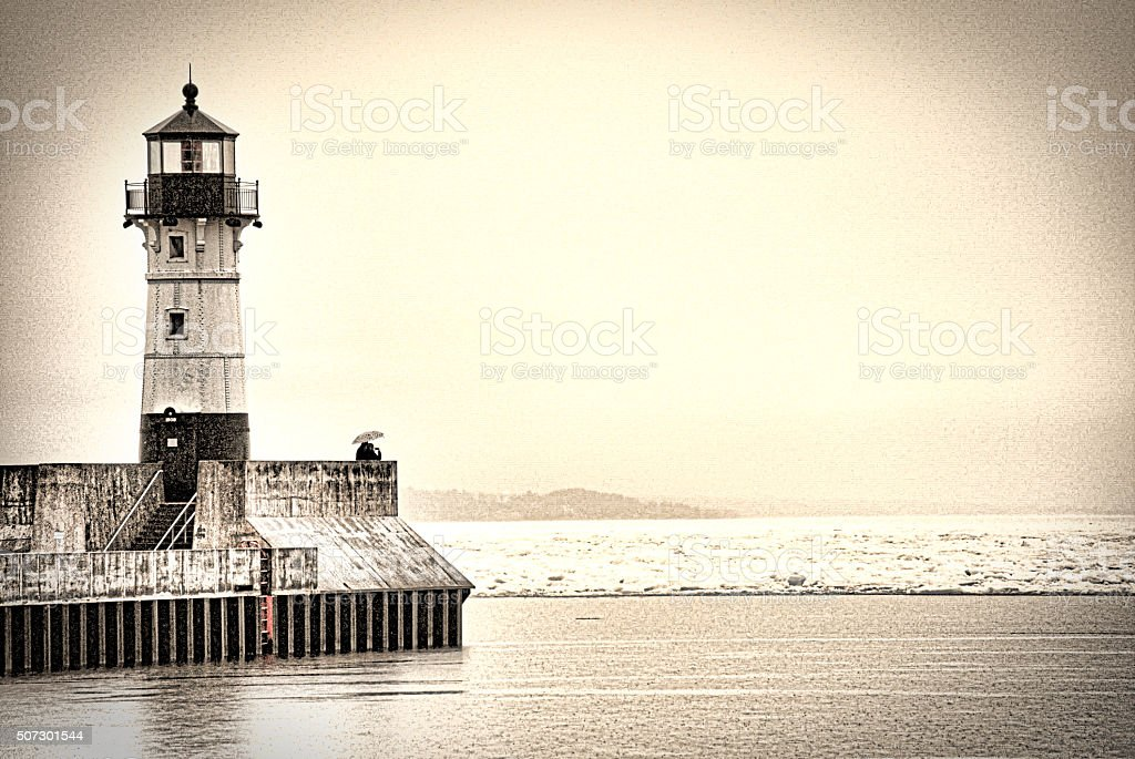 Love at the Lighthouse stock photo