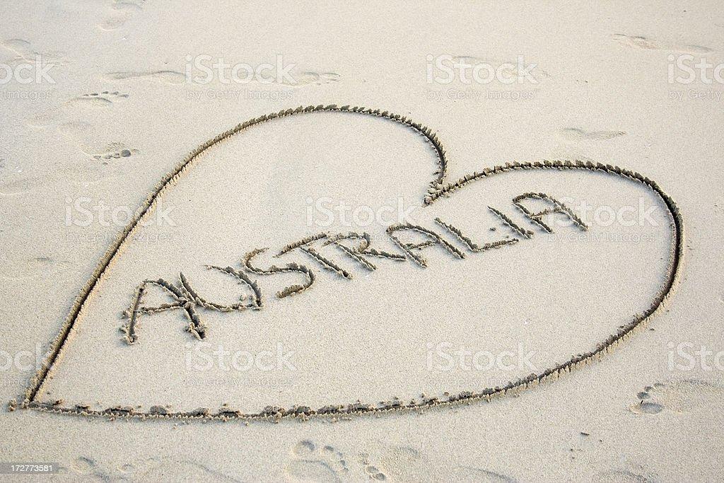 I Love Australia stock photo